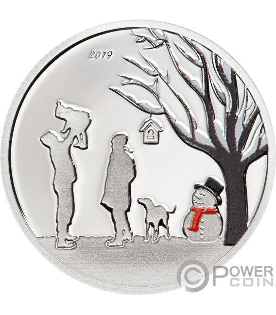 WINTER WONDERLAND Globes Silver Coin 1$ Cook Islands 2019