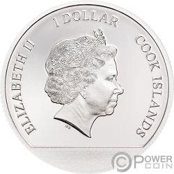 WINTER WONDERLAND Winter Sommer Globes Silber Münze 1$ Cook Islands 2019