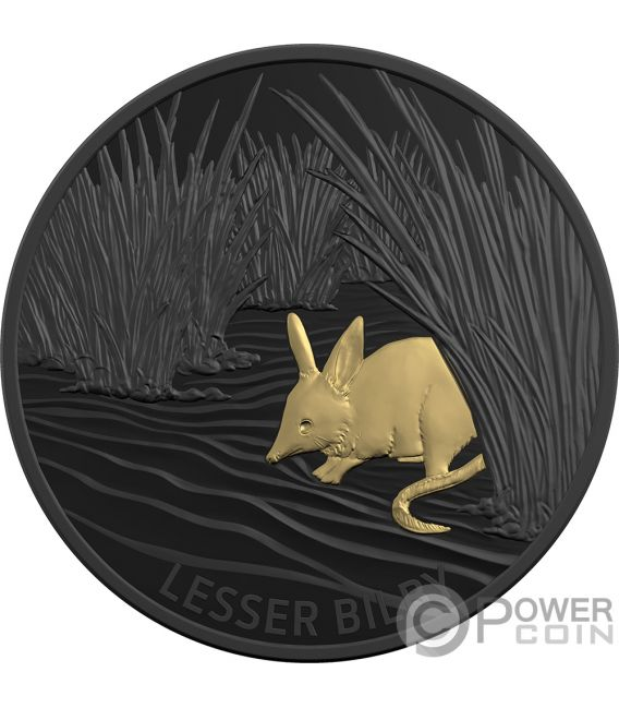 LESSER BILBY Отголоски фауны 1 Oz Монета Серебро 5$ Австралия 2019
