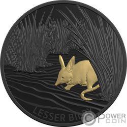 LESSER BILBY Marsupial Echoes Fauna 1 Oz Moneda Plata 5$ Australia 2019