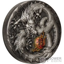 DRAGON 5 Oz Silver Coin 5$ Tuvalu 2019