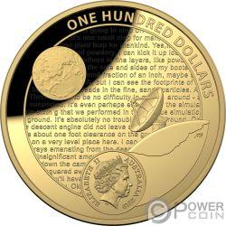 MOON LANDING 50 Aniversario Dome 1 Oz Moneda Oro 100$ Australia 2019