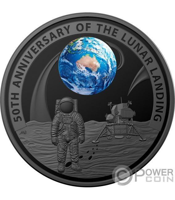 Moon Landing 50th Anniversary Dome 1 Oz Silver Coin 5