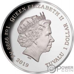 LIONFISH Рыба Лев Австрия Deadly Dangerous 1 Oz Серебро Монета 1$ Тувалу 2019