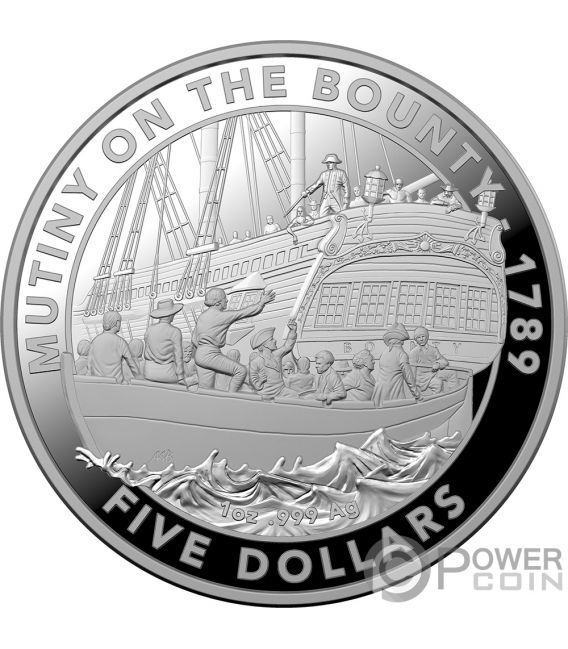 MUTINY ON THE BOUNTY 1 Oz Silver Coin 5$ Australia 2019