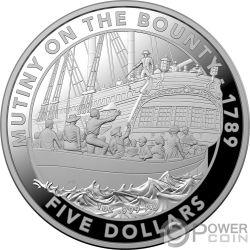 MUTINY ON THE BOUNTY Motin 1 Oz Moneda Argento 5$ Australia 2019