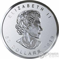 MAPLE LEAF Клен 40 Юбилей Позолоченная 3 Oz Серебряная Монета 50$ Канада 2019