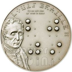 BRAILLE Louise 200th Anniversary Silber Münze 5$ Palau 2009