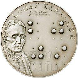 BRAILLE Louise 200th Anniversary Silver Coin 5$ Palau 2009