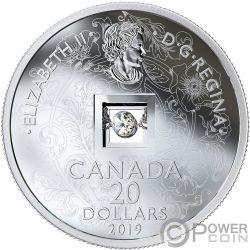 SPARKLE OF THE HEART Corazon Diamante Moneda Plata 20$ Canada 2019