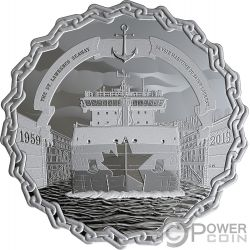 ST LAWRENCE SEAWAY 60 Aniversario 2 Oz Moneda Plata 30$ Canada 2019