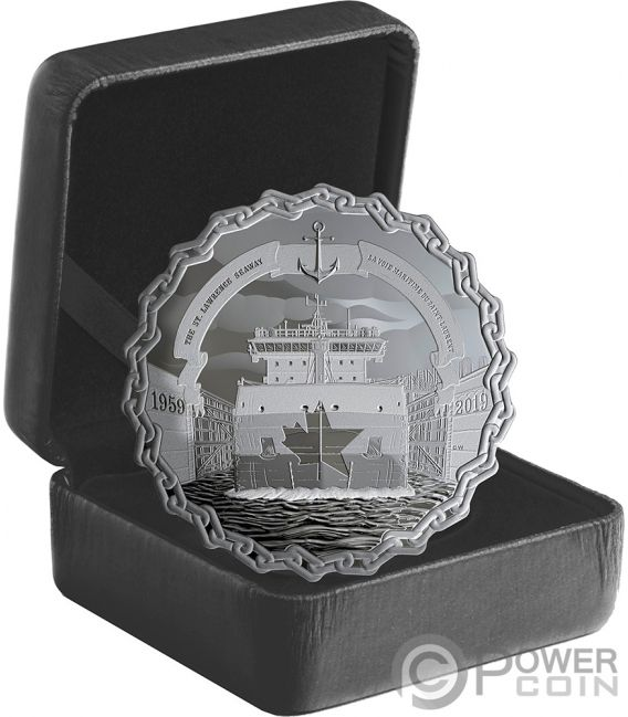 ST LAWRENCE SEAWAY 60th Anniversary 2 Oz Silver Coin 30$ Canada 2019