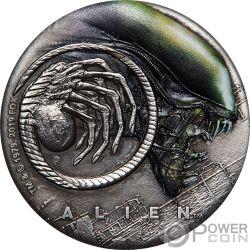 ALIEN 40 Юбилей 2 Oz Серебро Монета 2$ Тулаву 2019