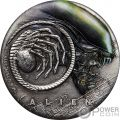 ALIEN 40th Anniversary 2 Oz Silver Coin 2$ Tuvalu 2019