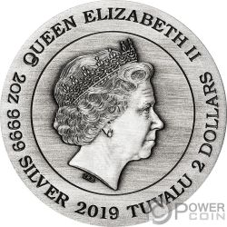 ALIEN 40 Anniversario 2 Oz Moneta Argento 2$ Tuvalu 2019