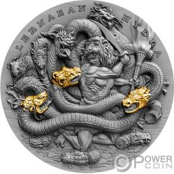 LERNAEAN HYDRA Twelve Labours of Hercules 2 Oz Silver Coin 5$ Niue 2019
