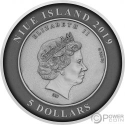 ATLANTIS Затонувший Город Купол 2 Oz Монета Серебро 5$ Ниуэ 2019