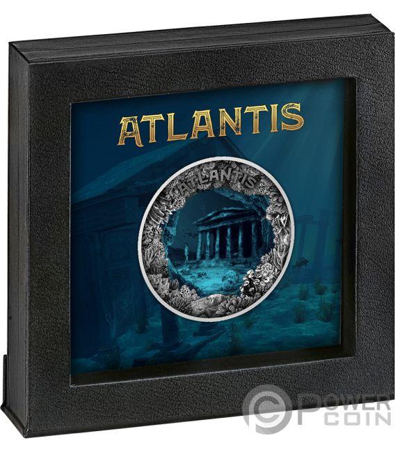 ATLANTIS Citta Sommersa Dome 2 Oz Moneta Argento 5$ Niue 2019