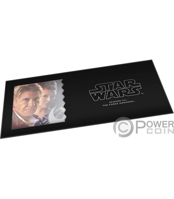 HAN SOLO LEIA Star Wars Force Awakens Foil Silver Note 1$ Niue 2019