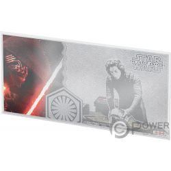 KYLO REN Star Wars Force Awakens Foil Silver Note 1$ Niue 2019