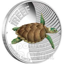 HAWKSBILL TURTLE Australian Sea Life II The Reef Silver Coin 50c Australia 2011