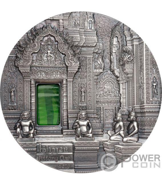 TIFFANY ART Khmer Angkor 2 Oz Moneta Argento 10$ Palau 2019