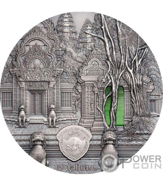 TIFFANY ART Khmer Angkor 2 Oz Moneda Plata 10$ Palau 2019
