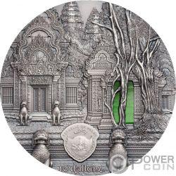 TIFFANY ART Khmer Angkor 2 Oz Silber Münze 10$ Palau 2019