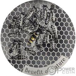 HONEYBEE Honigbiene Benefit of Nature 1 Oz Silber Münze 1000 Franken Cameroon 2019