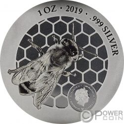 HONEYBEE Benefit of Nature 1 Oz Silver Coin 1000 Francs Cameroon 2019
