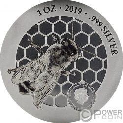 HONEYBEE Дары Природы 1 Oz Серебренная Монета 1000 Франков Камерун 2019