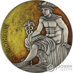 MERCURY Меркуриой Classic Gods and Planets 3 Oz Серебро Монета 3000 Франков Камерун 2019