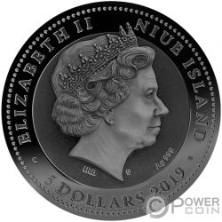 CHARIOT Biga Война Покрытие Золото 2 Oz Монета Серебро 5$ Ниуэ 2019
