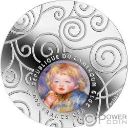 MATERNITY IN ART Maternidad 1 Oz Moneda Plata 1000 Francs Cameroon 2019