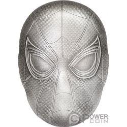 SPIDER MAN MASK Mascara Marvel 2 Oz Moneda Plata 5$ Fiji 2019