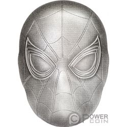 SPIDER MAN MASK Maske Marvel 2 Oz Silber Münze 5$ Fiji 2019