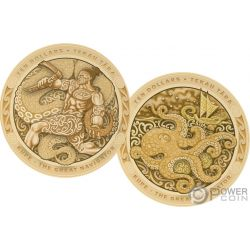 KUPE Great Navigator Octopus Tekau Tara Set 2 Gold Coins 10$ New Zealand 2019