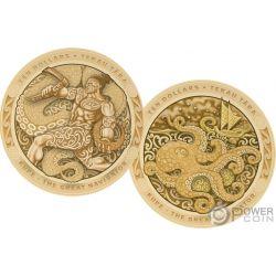 KUPE Great Navigator Pulpo Tekau Tara Set 2 Monedas Oro 10$ New Zealand 2019
