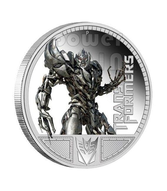 TRANSFORMERS MEGATRON Hasbro Silver Coin 1$ Tuvalu 2009