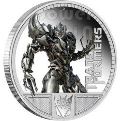 TRANSFORMERS MEGATRON Hasbro Moneda Plata 1$ Tuvalu 2009