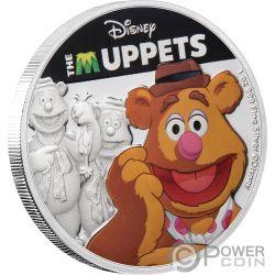 FOZZIE Медведь Куклы Дисней 1 Oz Монета Серебро 2$ Ниуэ 2019
