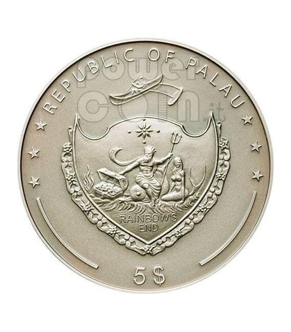 BRAILLE Louise 200th Anniversary Moneda Plata 5$ Palau 2009