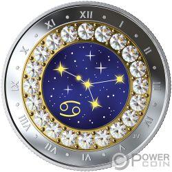 CANCER Рак Знак Зодиака Swarovski Кристалл Серебро Монета 5$ Канада 2019