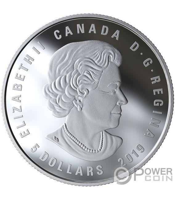 CANCER Zodiac Swarovski Crystal Silver Coin 5$ Canada 2019