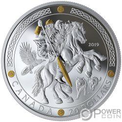 ODIN Norse Gods 1 Oz Moneda Plata 20$ Canada 2019