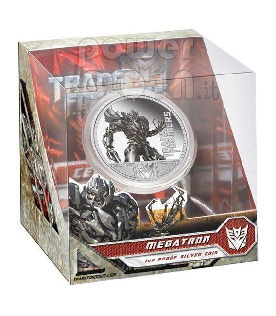 TRANSFORMERS MEGATRON Hasbro Серебро Монета 1$ Тувалу 2009