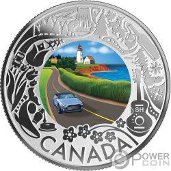 COASTAL DRIVE Küstenfahrt Fun and Festivities Silber Münze 3$ Canada 2019