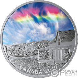 FIRE RAINBOW Радуга Огонь Небо1 Oz Серебро Монета 20$ Канада 2019