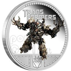 TRANSFORMERS MEGATRON Dark Of The Moon Hasbro Silver Coin 1$ Tuvalu 2011