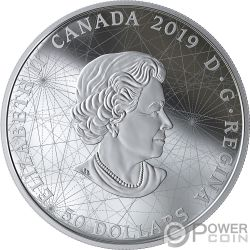 ROSE OF THE WINDS Rosa Venti Placcatura Oro 5 Oz Moneta Argento 50$ Canada 2019